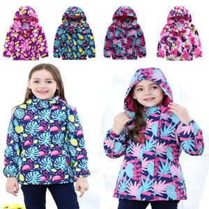Wholesale- 2018 spring autumn new fashion European and American girls in the children's jacket windproof warm outdoor sports jacket