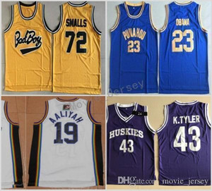 Bad Boy Notorious Big 72 Biggie Smalls Jersey Punahou 23 Barack Obama Camisetas de baloncesto Marlon Wayans 43 Kenny Tyler Albañiles 19 Aaliyah