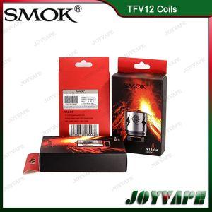 Autentico SMOK TFV12 testa bobina V12-T14 V12-T12 V12-T8 V12-T6 V12-X4 V12-Q4 nucleo di ricambio per TFV12 Atomizzatore Potrebbe cacciatori 100% originale