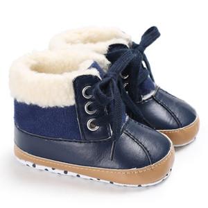 حذاء شتوي جديد محايد مع الصوف الناعم الدافئ الناعم بعمر 0-1 سنوات