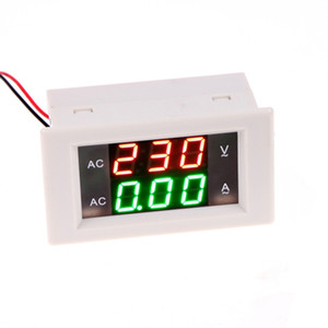 DC 0-100 V 20A Digital Voltmetro Amperometro Car Solar Power Charger LCD Digital Dual Display Monitor Tensione Tester Tester Bianco / Nero