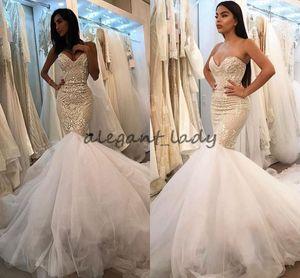 2018 Berta vestidos de noiva guipure lace sereia tule saias de casamento vestidos de noiva vestidos vintage quadra trem desgaste africano