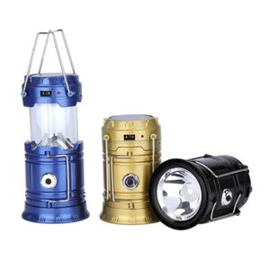 Lanternas solares ao ar livre Lâmpadas LED Camping lanternas portáteis Dobrável Camping Caminhadas Super brilhante solar levou gota de luz grátis