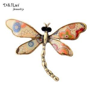 D Rui Jóias 2017 Novo Broche Esmalte Bonito Dragonfly Broches Pinos Acessórios Para As Mulheres Broches