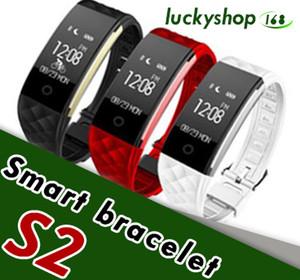 2018 Dynamique Fréquence Cardiaque S2 Smartband Fitness Tracker Étape Compteur Smart Watch Band Vibration Bracelet pour ios android pk ID107 fitbit tw64