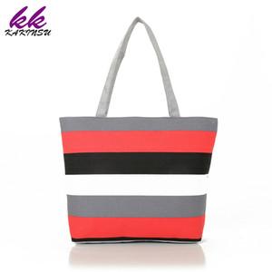 Handbag Beach Canvas Shopping Bags Women Tote Holiday Eco Versatile Zipper Summer Shoulder Sack Bag 2018 DIY Painting Shopper Hrxbu