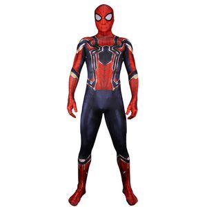 Iron Spiderman Costume 3D Pirnt Eye Lenses Spdierman Costume para Cosplay Halloween Party