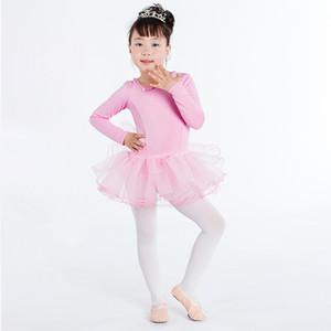 Bambini Body Ragazze Ginnastica Body Ballet Girl Dress Concorso pratica gonna poliestere costume di balletto bambini del pannello esterno