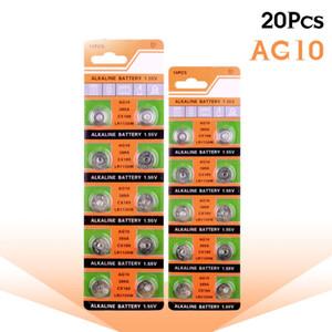 20 шт. AG10 ячейка монета батареи LR1130 V10ga часы кнопка монета 189 389 390 Lr54 батареи