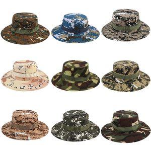 양동이 모자 스나이퍼 위장 모자 군사 육군 액세서리 하이킹 모자 정글 등산 모자 17 색 큰 소년 양산 모자 C4329