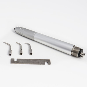 Dental Air Ultrasonic Scaler Handpiece Perio Hygienist 2 4Holes 3 Tips Air Scaler