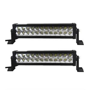14inch 72W LED 일 표시 등 막대 백색 12V 24V Offroad LED 차 트럭 SUV ATV 4X4 4WD 트레일러 픽업 모는 램프