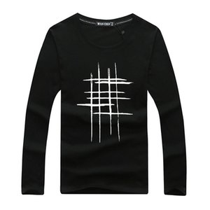 brand tshirt men 2018 new Fashion Well Number Pattern Printed Fashionable Round Neck T-shirts Men's short sleeve T-shirt M-5XL Free Shipping