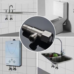 Vente en gros 1 PCS en acier brossé inoxydable SUS304 Angle Valves Cuisine Salle de bains Accessoires Angle Valve pour toilettes évier BasinWater chauffage