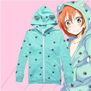 Taille asiatique Japon Anime Lovelive! Love Live! Uniformes scolaires Cosplay Costume à manches longues Sweat-shirt Manteau à capuche
