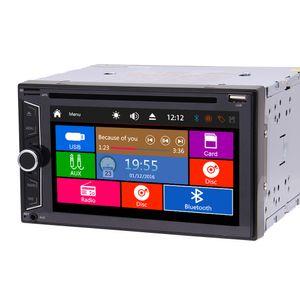 Radio double 2 din autoradio car dvd player car pc headunit automagnitol double din 1080P video play bluetooth FM AM Subwoofer USB AUX