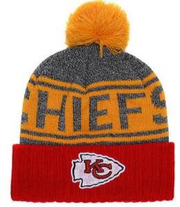 I più venduti berretto Kansas City KC berretti Sideline Cold Weather Reverse Sport Cuffed Knit Hat con Pom Winer Skull Caps 00