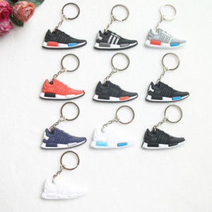 Bonito Mini Car Chaveiros Homens Meninos Chave Anel Presentes Sapatilha Forma Chave Accessoties Sport Shoes Chaveiro