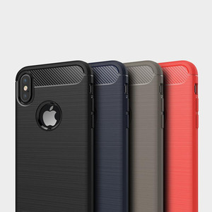 Stoßfeste Carbon-Faser-Hüllen für iPhone 11 Pro XS MAX XR 8 7 6 Plus Samsung A10 S20 Ultra-note10 Rugged-Rüstungs-Kasten