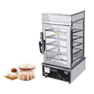 Qihang_top Industrielle chinesische gedämpfte Brötchen Dispaly-Schaukasten-Handelsbrötchen / gedämpfter Kuchen-Maschine Momo, der Maschinen-Nahrungsmittelschaukasten dämpft