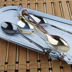 24 Pçs / lote New Royal Estilo Vintage Retro Pequena Colher De Mel Colher De Chá De Café Doce Lanches Colheres Acessórios De Cozinha