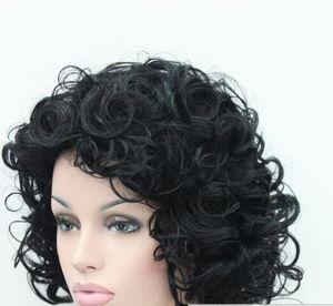 الشحن المجاني ++++ 5 اللون مثير السيدات فتاة شعر مستعار متوسطة مجعد الشعر المستعار@##