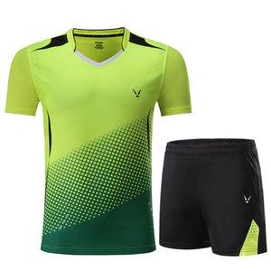 esportes Badminton roupas, Conjuntos de tênis de mesa, Badminton define Mulheres / Homens, terno de Tênis, tênis de mesa Camisa + Shorts roupas, desgaste de badminton