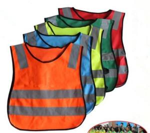 100pcs crianças Alta Visibilidade Woking Segurança Vest Trânsito Rodoviário Trabalho colete verde reflexiva Segurança Vestuário Crianças Segurança Vest Y266 Jacket