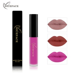 NICEFACE Liquid Lipstick Set Long-Lasting Matte Lip Stick Make Up Waterproof Velvet Batom Nude Sexy Lip Gloss Cosmetics Kit