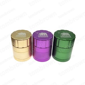 43mm 22 inches Height 4 layers Homegrown Cali Tobacco Cursher CNC Material Smoking Cigarette Detector Grinder