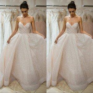 Длинные возлюбленные на молнии назад выпускного вечера вечерние платья белые блестки кружева вечерние платья Vestido де Noche