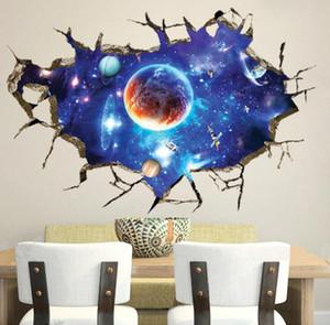 90 CM 3D Sterne Universum Serie Gebrochene Wandaufkleber für Kinder Baby Zimmer Schlafzimmer Wohnkultur Dekoration Aufkleber Wandbild Poster Wandaufkleber Aufkleber