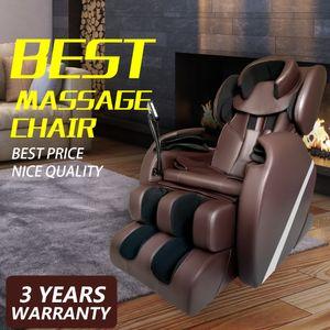 Livre do Imposto Elétrico de Corpo Inteiro Shiatsu Massagem Cadeira Pé Rolo De Gravidade Zero w / Massagem Reclinável De Massagem