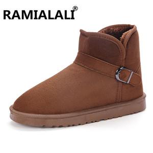 Sapatos Ramialali Unisex neve do inverno ankle boots botas de borracha Moda Masculina Inverno Cheap Homens australianos