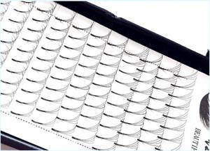 2019 Nouvelle extension de cils russes en volume 4D longue tige Tiges pré-fabriquées Fans C / D curl Cils de vison Cils à la vente chaude Extensions individuelles