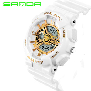 2018 Rushed Mens Led Digital-watch Nuovo marchio Sanda Orologi G Style Watch Sport impermeabile Militare Shock For Men Relojes Hombre