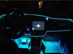 엘 밴드 엣지 카 LED가 차가운 빛을 내부에 장식 조명 벨트를 변경하는 분위기 가벼운 클립 유형 램프 라이트 3meter