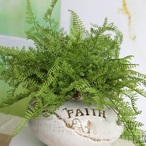 Beauty Fern Fake Plant Artificiale Foglia Fogliame Home Office Decoration Drop Shipping Bunch 22pcs / lot