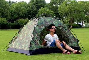 Automatic Outdoor Portable Camping Tent Wigwam Camouflage 2 Person Waterproof Lightweight Beach Fishing Hunting