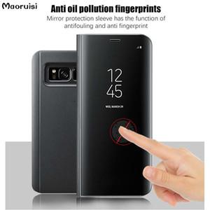 Clear View Espelho Caso Inteligente Para Xiaomi mi 6 6X 5X 5C A2 A2 MIX 2 tampa traseira caso para xiaomi mi6 mi6x mi5x mi5c casos de suporte da aleta