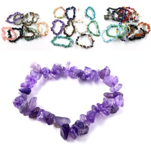 38 Style Handmade Stretch Crystal Chip Bracelet Gravel Bracelet Irregular Natural Stone Charm with Elastic Gift For Women H116S