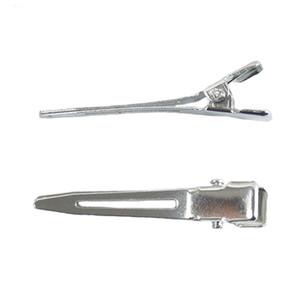50 pc / lotto 45mm Singolo Prong Alligator Clips senza denti clip di alta qualità dei capelli Boutique forcine per DIY Bow Copricapo