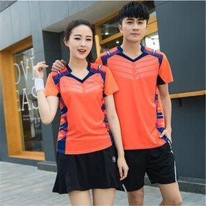 La nuova t-shirt da badminton indossata nel 2018, abbigliamento da badminton Abbigliamento da uomo Abbigliamento da jersey Pantaloncini da ping pong ad asciugatura rapida, maglietta da tennis + pantaloncini / gonne