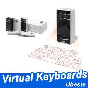 Brand new atacado Bluetooth teclados wireless teclado de projeção a laser teclados projeção virtuais com voz rato alto-falante para iPhone