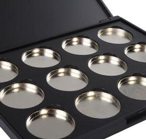 NOVA CHEGADA Atacado-10 Pack Maquiagem Cosméticos Vazio 12 pcs de Alumínio Sombra Magnética Da Sombra de Olho Pigmento Panelas Paleta Caso