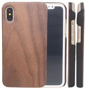 Cas de haute qualité en bois blanc pour iphone X 10 7 8 PLUS 6 6S 5 5S SE cerisier bambou en bois téléphone couverture cas pour pare-chocs pour Samsung Galaxy S9