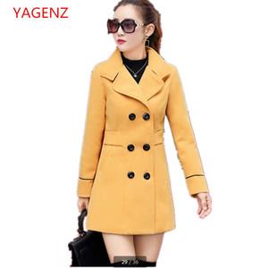 Mode Femmes tops Étudiants Manteau d'automne Imitation de manteau de Cachemire NOUVEAU Vêtements pas cher chine Vêtements EleFemale BN2237 YAGENZ
