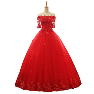 2020 New High Quality Lace Sweet 16 Ball Gown Quinceanera Dresses Beaded Formal Party Gown Vestidos De 15 Anos
