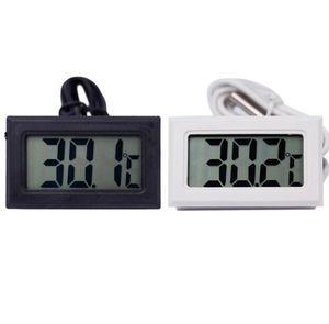 Neue Schwarz Weiß Digital Thermometer Kühlschrank Gefrierschrank Temperatur Meter Hause Wassertemperatur Tester Detektor Haushaltsprodukte