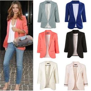 2018 Spring Casual Slim Female Blazer Top Plus Size Women EleBlazers and Jackets Office Lady Work Wear Blazer